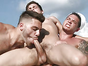 Johnny Rapid fucked by the sailors on the boat