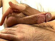Hot brunette european twink duke fingering his ass on the couch