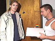 Long haired blonde stud toy fucking his college BFs ass