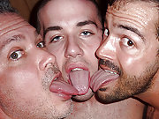 Hairy twink Clark getting assaulted by two dads