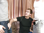 Three gay mates suck and fuck each other hard