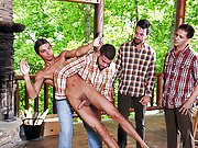 The doll Johnny rapid gets fucked by the older men