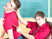 Teach twinks bangs in the classroom horny student
