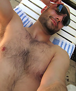 Straight guy shows off dick by the pool!