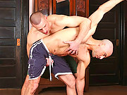 Two nice hunks having hot raw sex on the floor