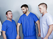 Three gay doctors decided to fuck each other hard