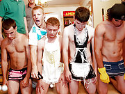 Explosive hot fratboys getting their balls cleaned