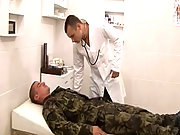 A military doctor sucking and fucking a soldier