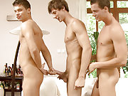 A group of Belamis gay models fuck and cum hard