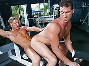 Sex-hungry muscle dudes having a dirty sex at gym