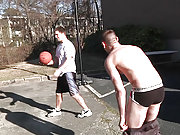 Three gay friends play and ass fuck in the garage