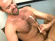 Hairy Dodger getting fucked hard in his own office