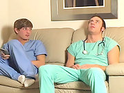 Twink nurse rides cock in the waiting room and loves it