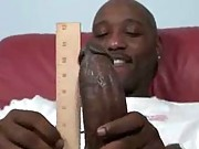 He measures his black cock and feeds it to a slut