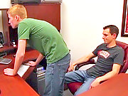 Office twink bend over for his coworker for bangs