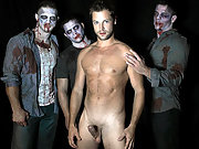 Eric Pryor gets involved in a huge Halloween orgy