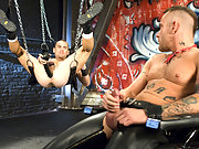 Club Inferno fist pig Nick Piston finds Jessie Balboa ass-up