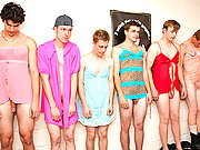 Frat lingerie party goes wild and mad with cocks!