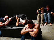 A bunch of muscle guys assfucking in the dark room