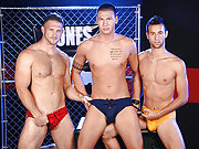 A group of horny jock men have a wild huge orgy