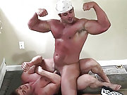 Bodybuilder Frank Defeo fights with a hunky dude